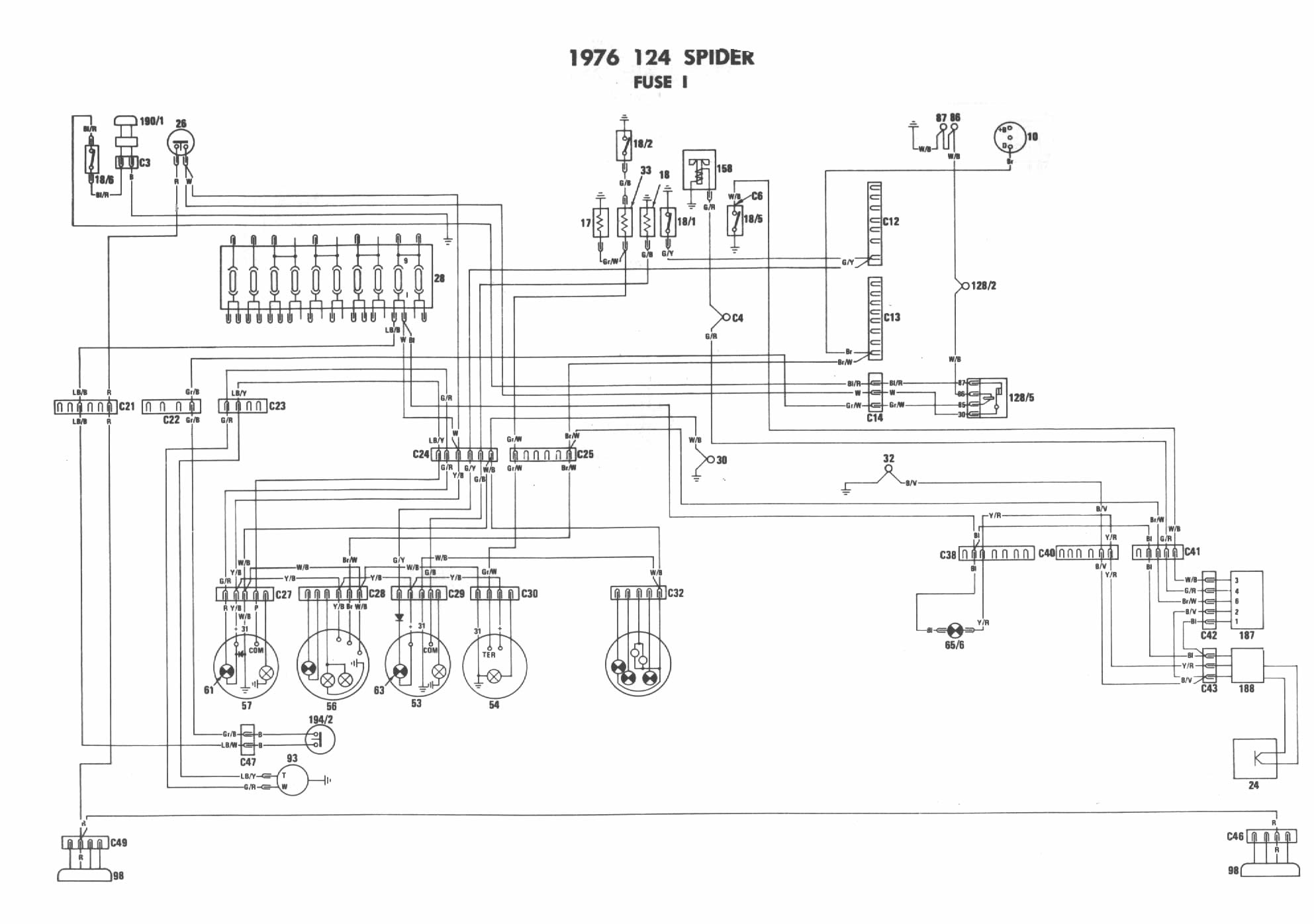 76 Fiat Wiring Diagram - Schematics Online Karmann Ghia Wiring Diagram on